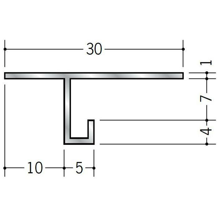 目透かし型見切縁 アルミ AM-6 シルバー 3m  51058