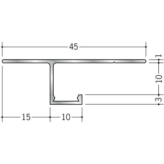目透かし型見切縁 アルミ CL-10 シルバー 3m  51080