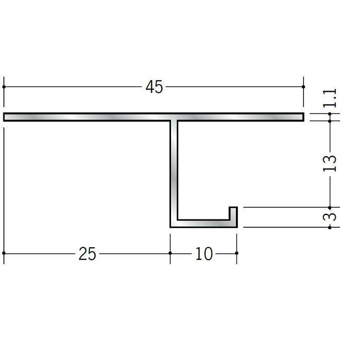 目透かし型見切縁 アルミ VF-13 シルバー 3m  51069