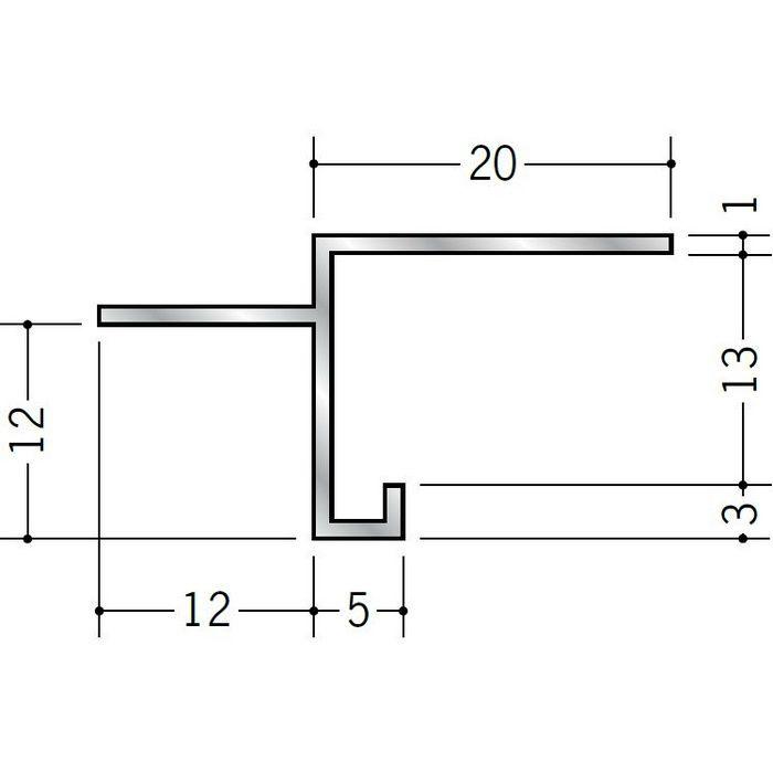 目透かし型見切縁 アルミ SBM-12 シルバー 3m  51126