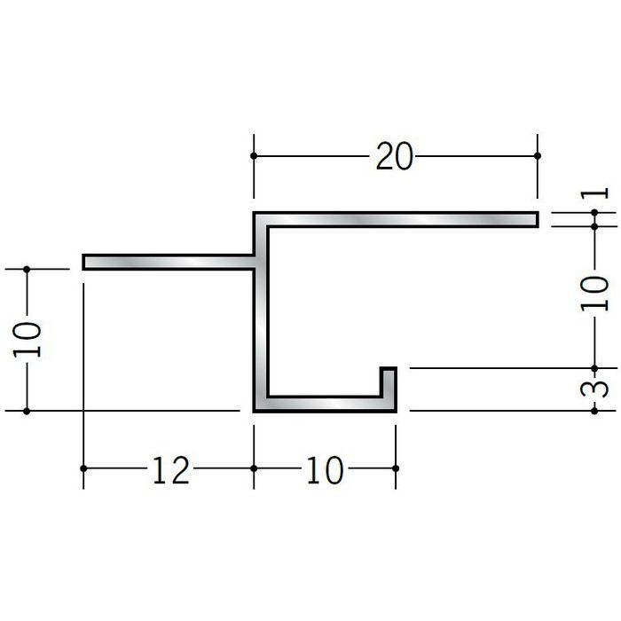 目透かし型見切縁 アルミ BMS-9.5 シルバー 3m  51108