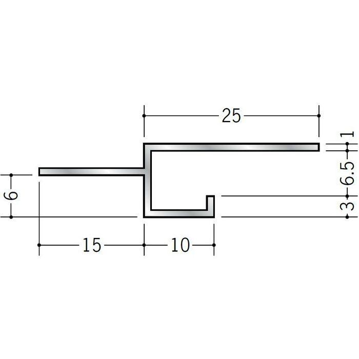 目透かし型見切縁 アルミ BMV-6.5 シルバー 3m  50251