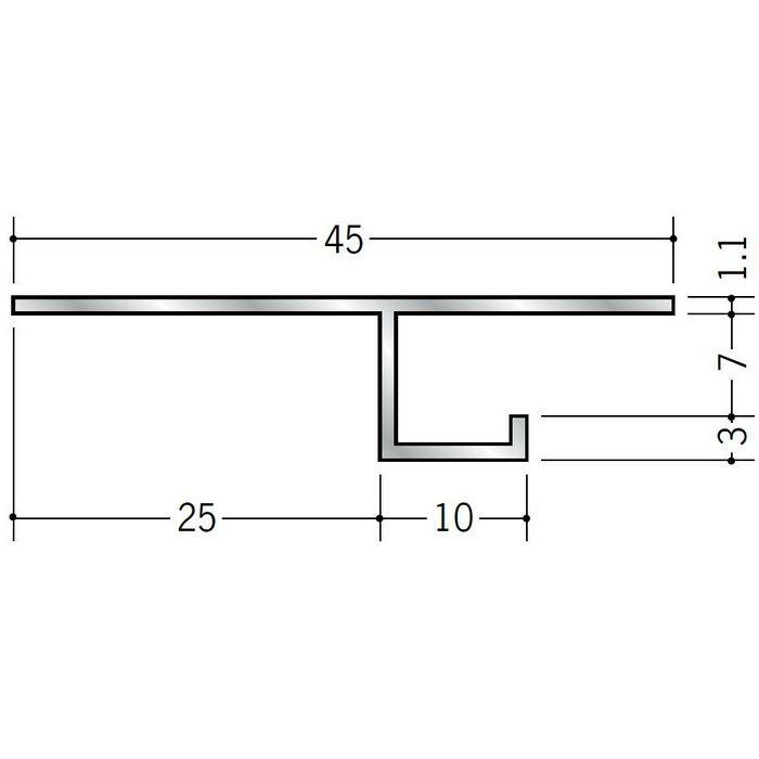 換気見切 アルミ VFT-7(開口率22.03%) シルバー 3m  51062