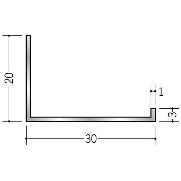 壁付け型見切縁 アルミ C型-30 シルバー 3m  52137