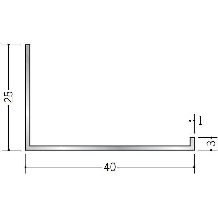 壁付け型見切縁 アルミ C型-40 シルバー 3m  52147