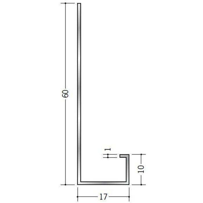壁付け型見切縁 アルミ AFL-13 シルバー 3m  52069
