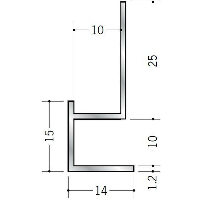 下がり壁用見切縁 アルミ D型9 シルバー 2.5m  52076