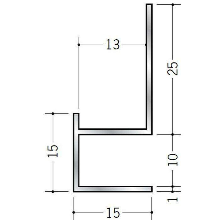 下がり壁用見切縁 アルミ D型11 シルバー 3m  52079