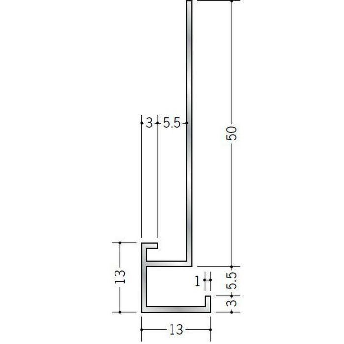 下がり壁用見切縁 アルミ D型29 シルバー 3m  52098