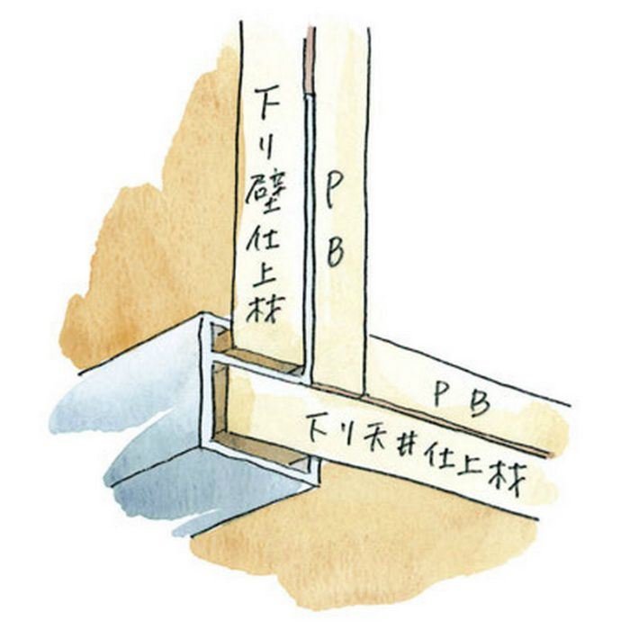 下がり壁用見切縁 アルミ D型24 シルバー 3m  52094