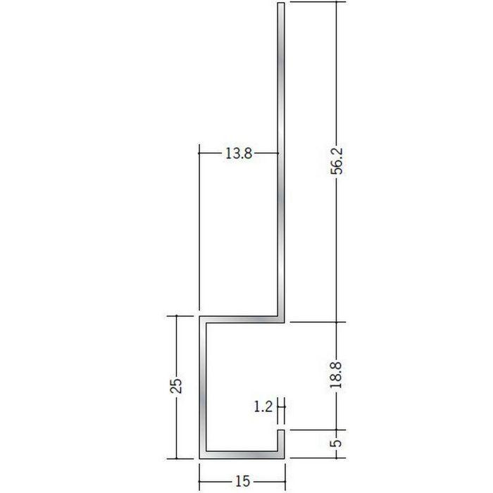 下がり壁用見切縁 アルミ CK-1 シルバー 3m  52088