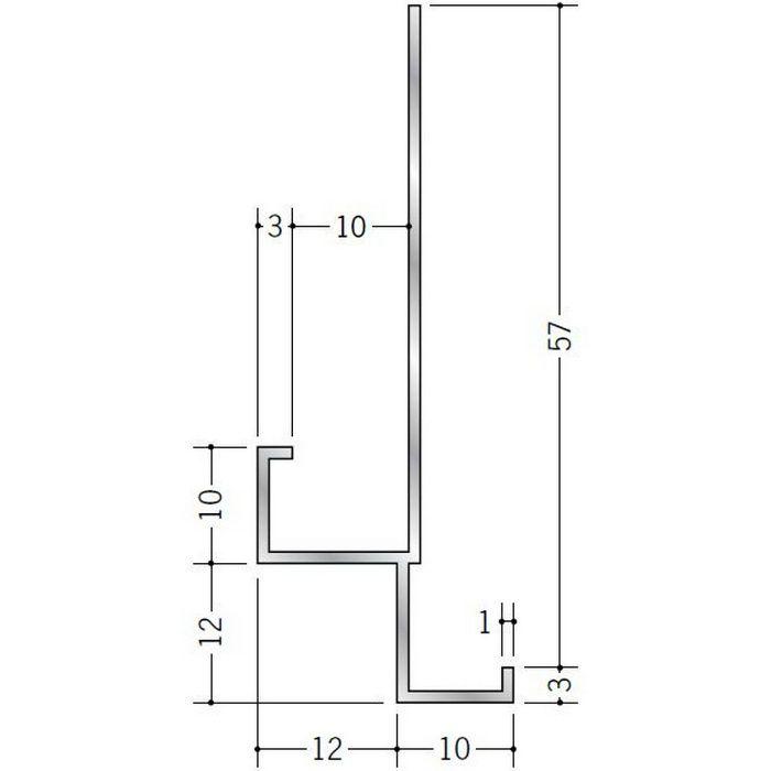 下がり壁用見切縁 アルミ FA-10 シルバー 3m  52056