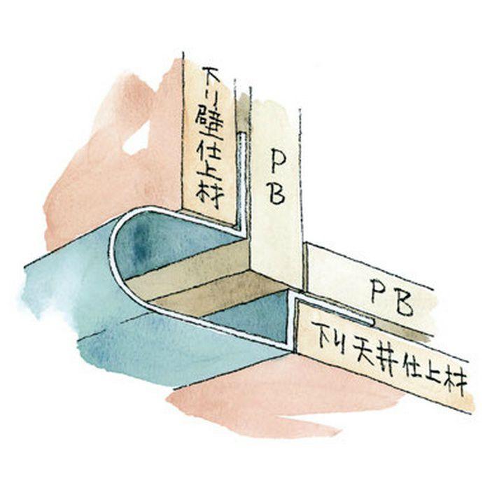下がり壁用見切縁 アルミ DDR-150 シルバー 3m  52071
