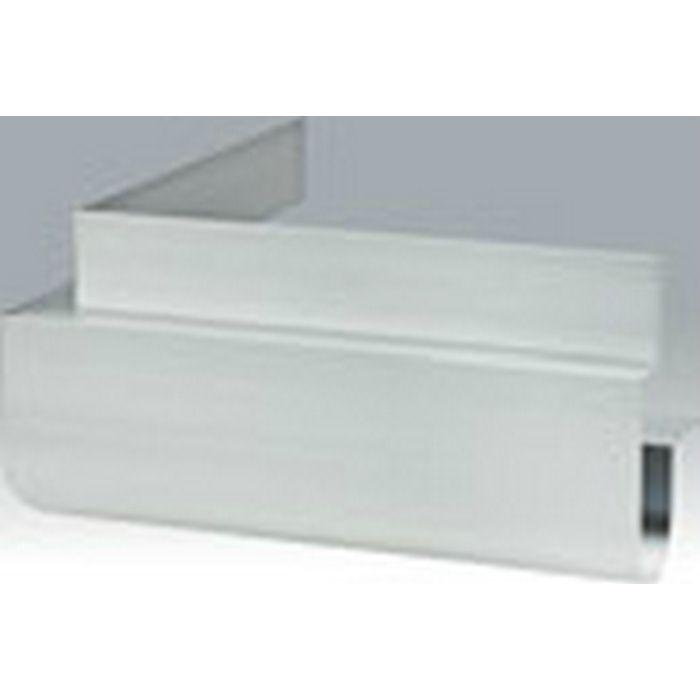 下がり壁用見切縁 アルミ DDR-150 垂直出隅 シルバー   52177