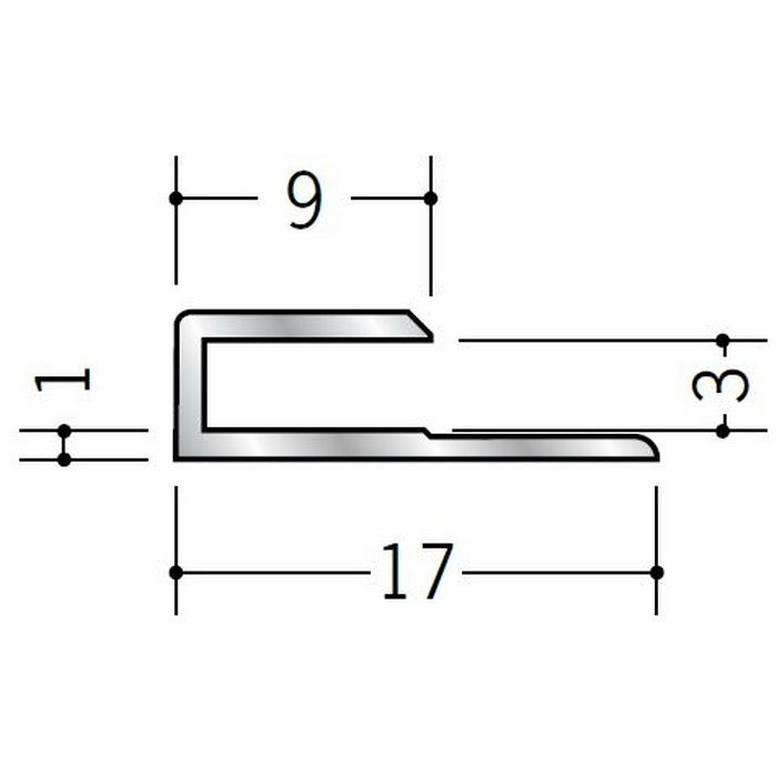 コ型ジョイナー アルミ 3CS シルバー 2.73m  54026-2