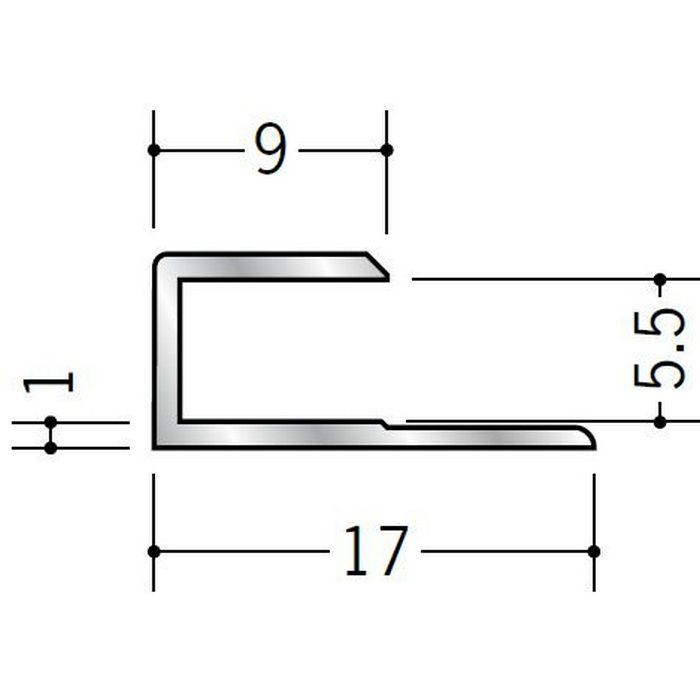 コ型ジョイナー アルミ 5.5CS シルバー 2.42m  54021-2