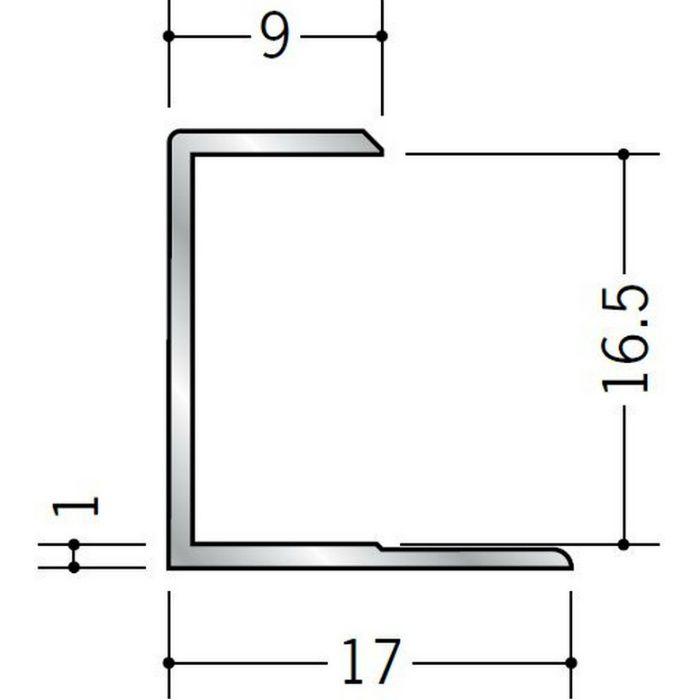 コ型ジョイナー アルミ 16.5CS シルバー 1.82m  54006-1