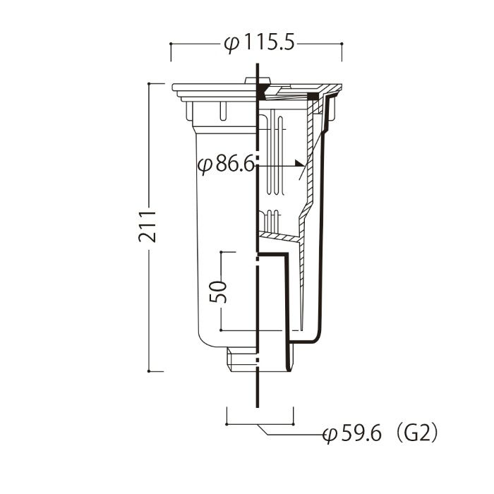小型ゴミ収納器 【流し台用部品】