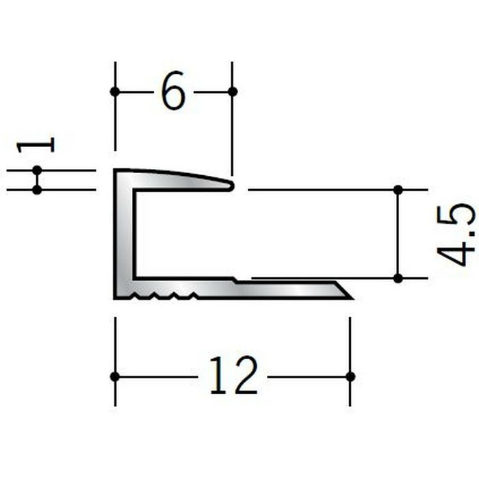 コ型ジョイナー アルミ 4CA シルバー 1.82m  54082-1