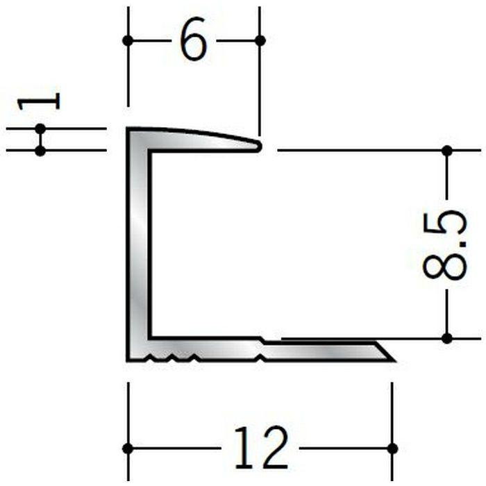 コ型ジョイナー アルミ 8CA シルバー 2.73m  54086-2