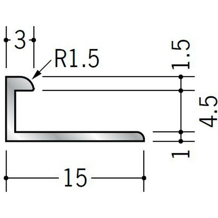 コ型ジョイナー アルミ 4BC シルバー 2.73m  54178