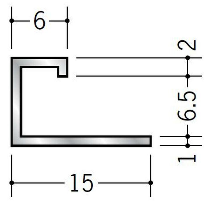 コ型ジョイナー アルミ ECS-6.5 シルバー 3m  54116