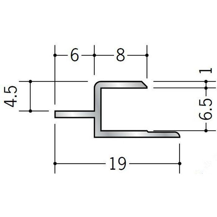 目透かしジョイナー アルミ CJ600 シルバー 2.73m  55073