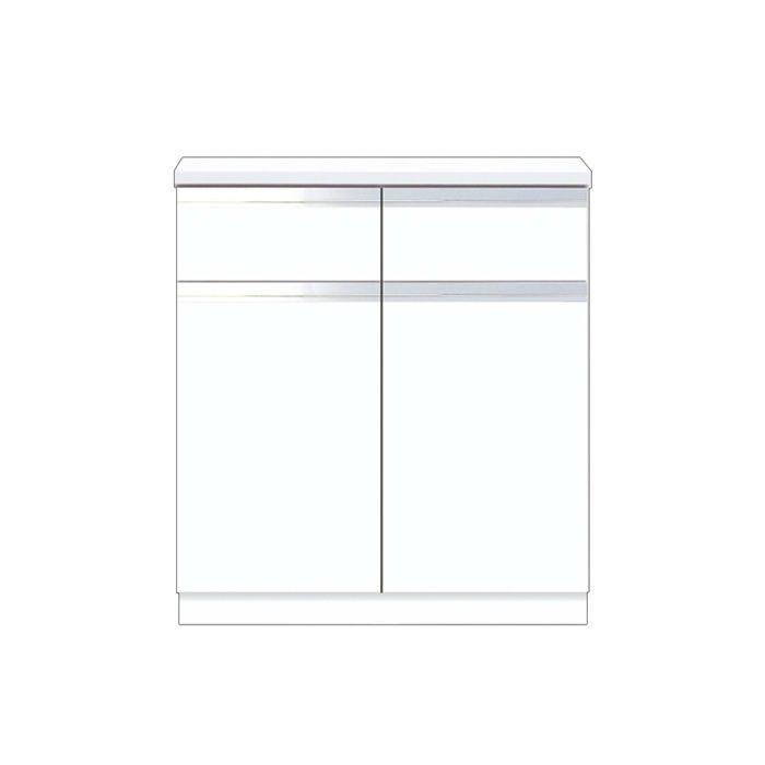 壁面収納 フロアユニット 間口80cm ホワイト Y2-80DRC_W