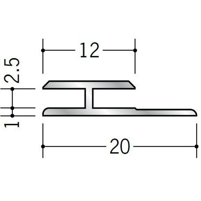 H型ジョイナー アルミ 2.5HS シルバー 1.82m  54052-1
