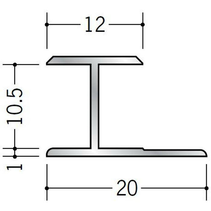 H型ジョイナー アルミ 10.5HS シルバー 1.82m  54060-1