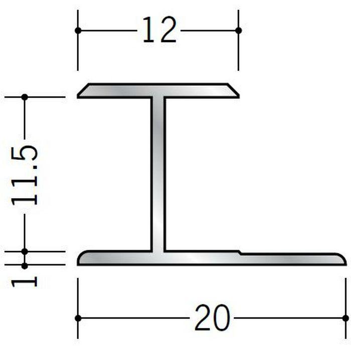 H型ジョイナー アルミ 11.5HS シルバー 2.73m  54061-2