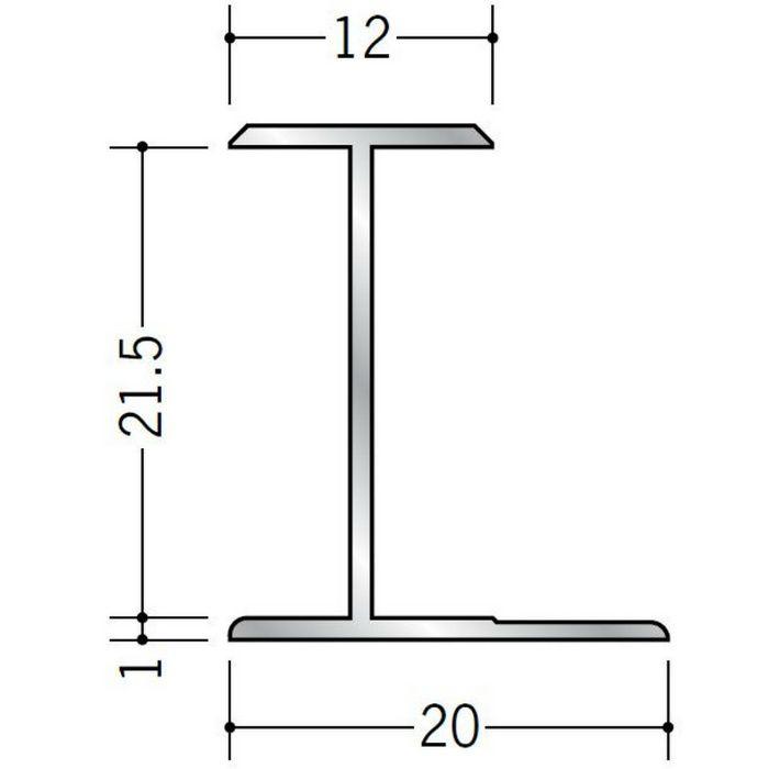 H型ジョイナー アルミ 21.5HS シルバー 2.73m  54064-2