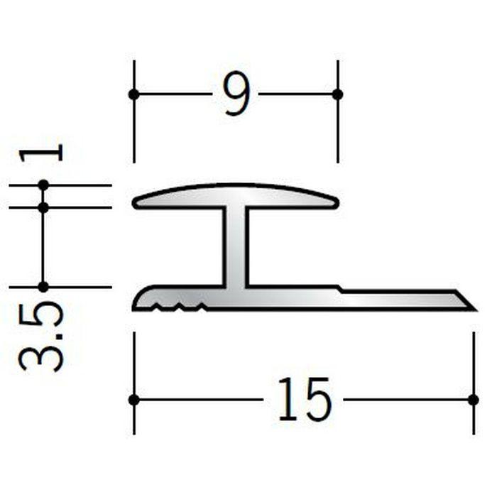 H型ジョイナー アルミ 3HA シルバー 2.42m  54091-2