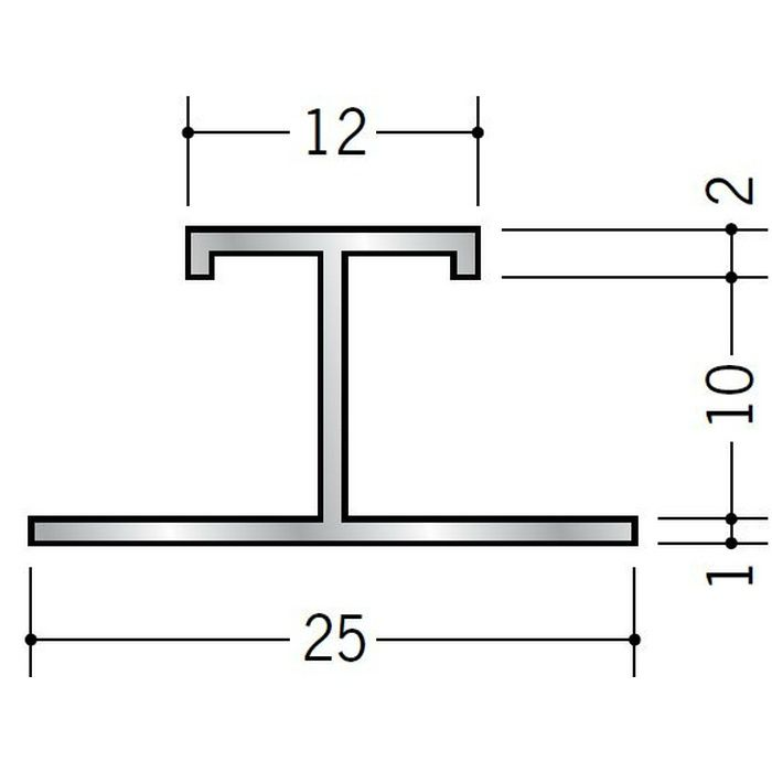 H型ジョイナー アルミ EHS-9.5 シルバー 3m  54102