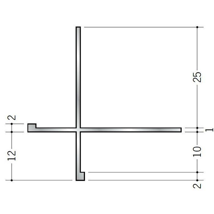 出隅ジョイナー アルミ XA-10+2 シルバー 2.73m  53169