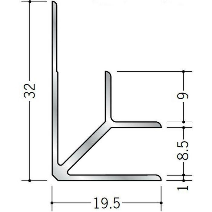 入隅ジョイナー アルミ BF-8.5 シルバー 2.73m  55038-1