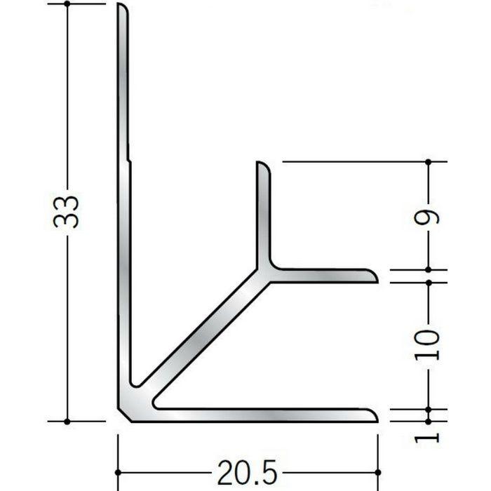 入隅ジョイナー アルミ BF-9.5 シルバー 3m  55039-2