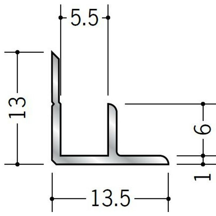 入隅ジョイナー アルミ 5AB シルバー 2.73m  50084