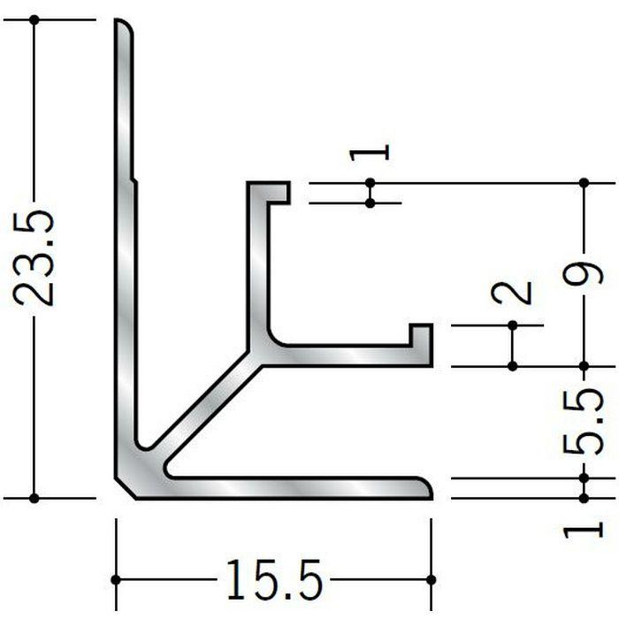 入隅ジョイナー アルミ mBF-5.5 シルバー 2.73m  55334