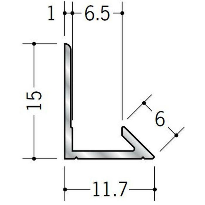 入隅ジョイナー アルミ ム型6.5 シルバー 2.73m  55005