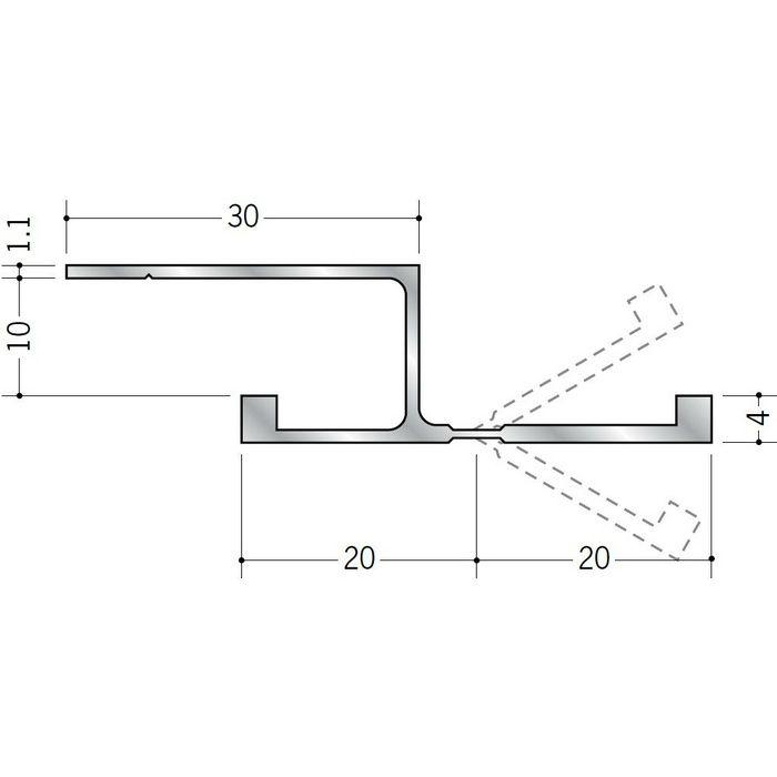 角度フリージョイナー アルミ フリーボーダー10 シルバー 2m  59095