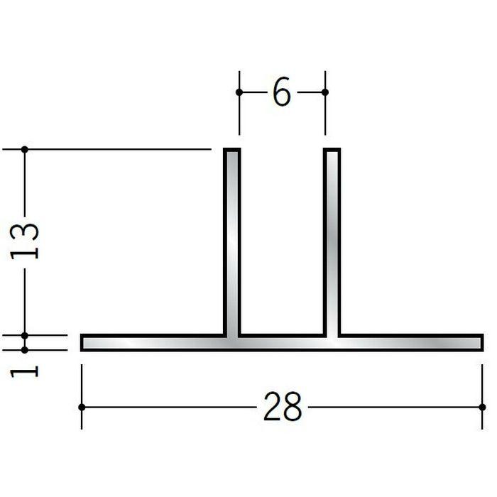 ハット型ジョイナー アルミ WTm-12 シルバー 3m  28044