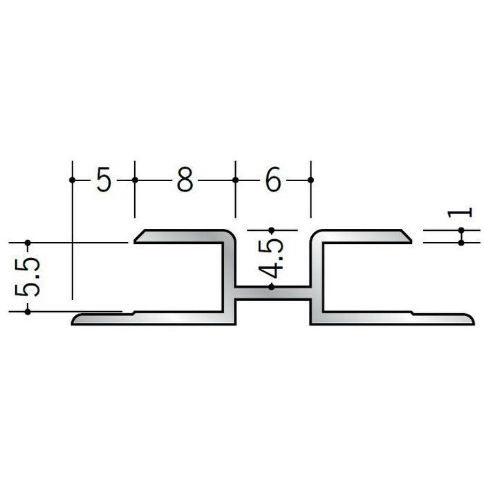ハット型ジョイナー アルミ 換気ジョイナーAES-5 シルバー 2.73m  28026