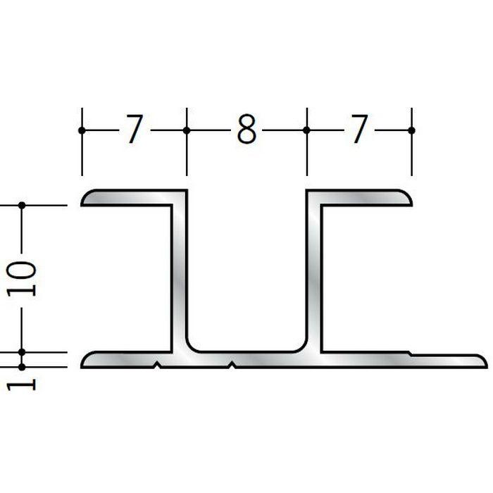 ハット型ジョイナー アルミ ハット型9.5 シルバー 2.5m  53074