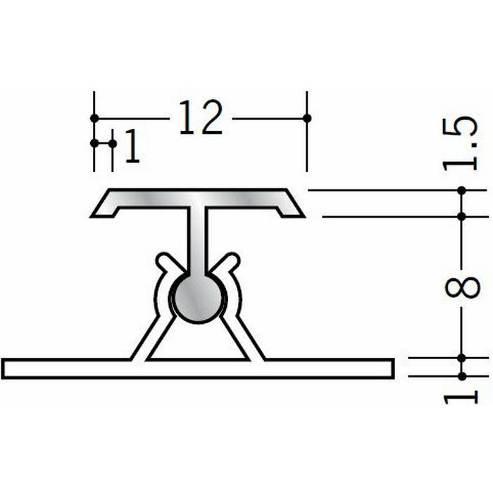 カンゴウジョイナー H型・コ型 アルミ AKT-8.5 シルバー(ベース:ビニール) 2.73m  52161