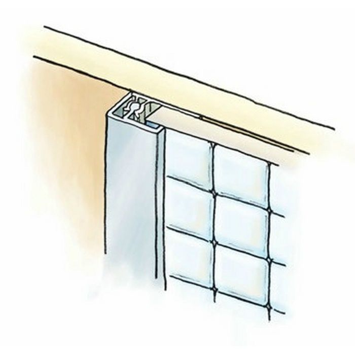 キッチンパネル用コ型ジョイナー アルミ カンゴウKNC-6 カラー バニラホワイト(ベース:ビニール) 2.73m  53244-1