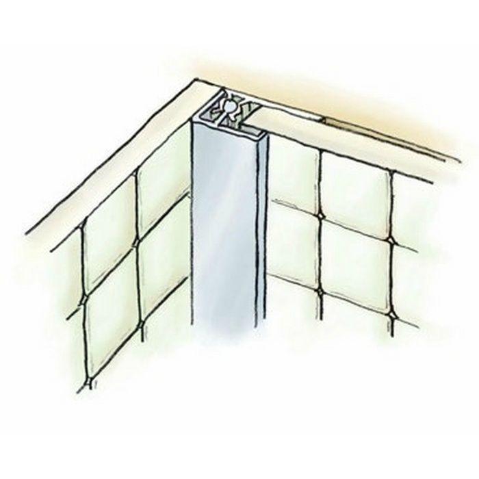 キッチンパネル用コ型ジョイナー アルミ カンゴウKNC-6 カラー マロンアイボリー(ベース:ビニール) 2.73m  53244-2