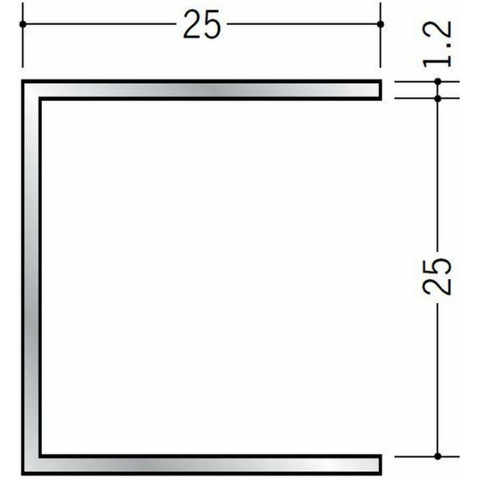 断熱材用ジョイナー コ型 アルミ コ型25BS シルバー 3m  54265
