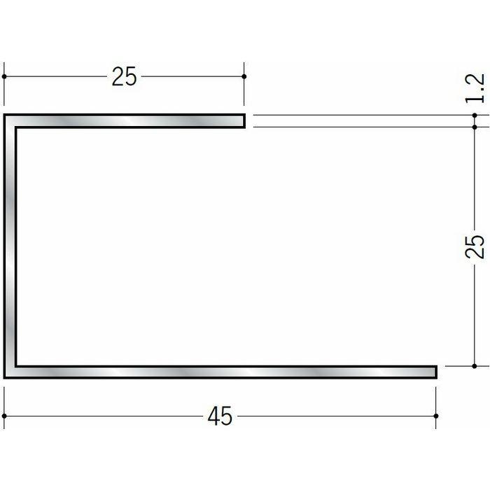 断熱材用ジョイナー コ型 アルミ A型25 シルバー 3m  51034
