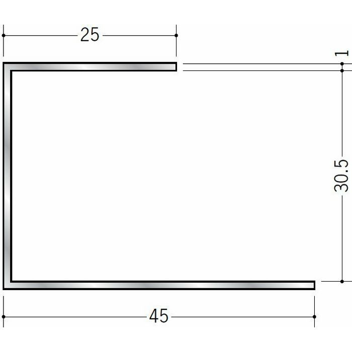 断熱材用ジョイナー コ型 アルミ A型30 シルバー 3m  51037